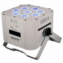 ETERNAL LIGHTING ECHOICON MK2 White RGBWA+UV Battery Powered LED Fixture with Wireless DMX ECHOICON MK2 - WHITE
