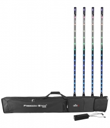 Chauvet DJ Freedom Stick Pack - 4 Free Standing battery powered RGB LED pixel tubes with wireless DMX FREEDOMSTICKPACK
