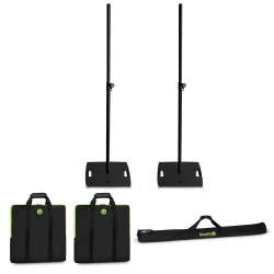 GRAVITY 2 GLS431B Lighting Stand BUNDLE with Flat Square Base plus Carrying Bags