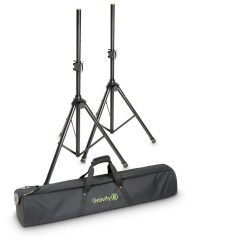 GRAVITY GSS5211BSET1 Set of Two Speaker Stands with Carrying Bag GSS5211BSET1