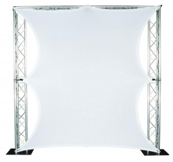 GLOBAL TRUSS Lycra Stretch Screen 7 Feet Wide x 6 Feet High 4-Way Stretch Projection Screen