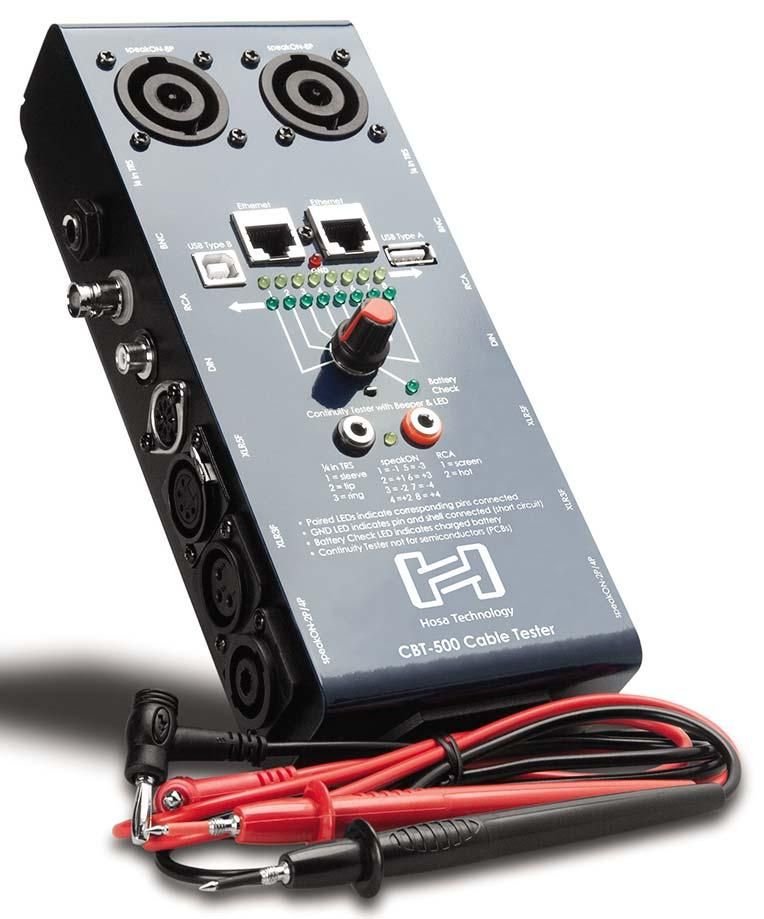 Hosa Cbt 500 Audio Cable Tester Continuity Test Battery