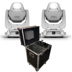 2 CHAUVET INTIMIDATOR SPOT 375Z IRC White Bundle with Free PROX Flight Case 2 WHITE 375Z IRC FREE CASE BUNDLE
