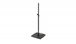 "K&M 26734 Square Flat Base 70"" Speaker Stand - Black 26734 SQUARE BASE"