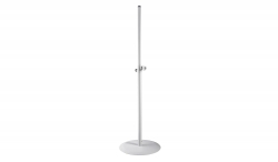 "K&M 26735 Round Base 70"" Speaker Stand - White 26735 ROUND BASE"
