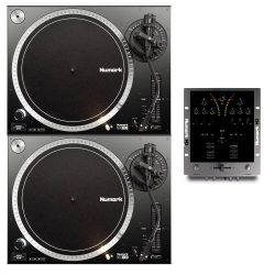 NUMARK DJ BUNDLE - 2 NTX1000 Turntables + FREE M3 2-Channel Mixer - HOLIDAY DEAL NTX1000 M3 DJ BUNDLE