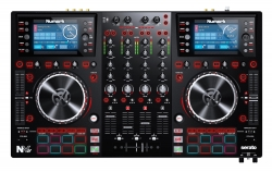 NUMARK NVII Four-Deck + Four-Channel Serato DJ Controller with Dual Displays