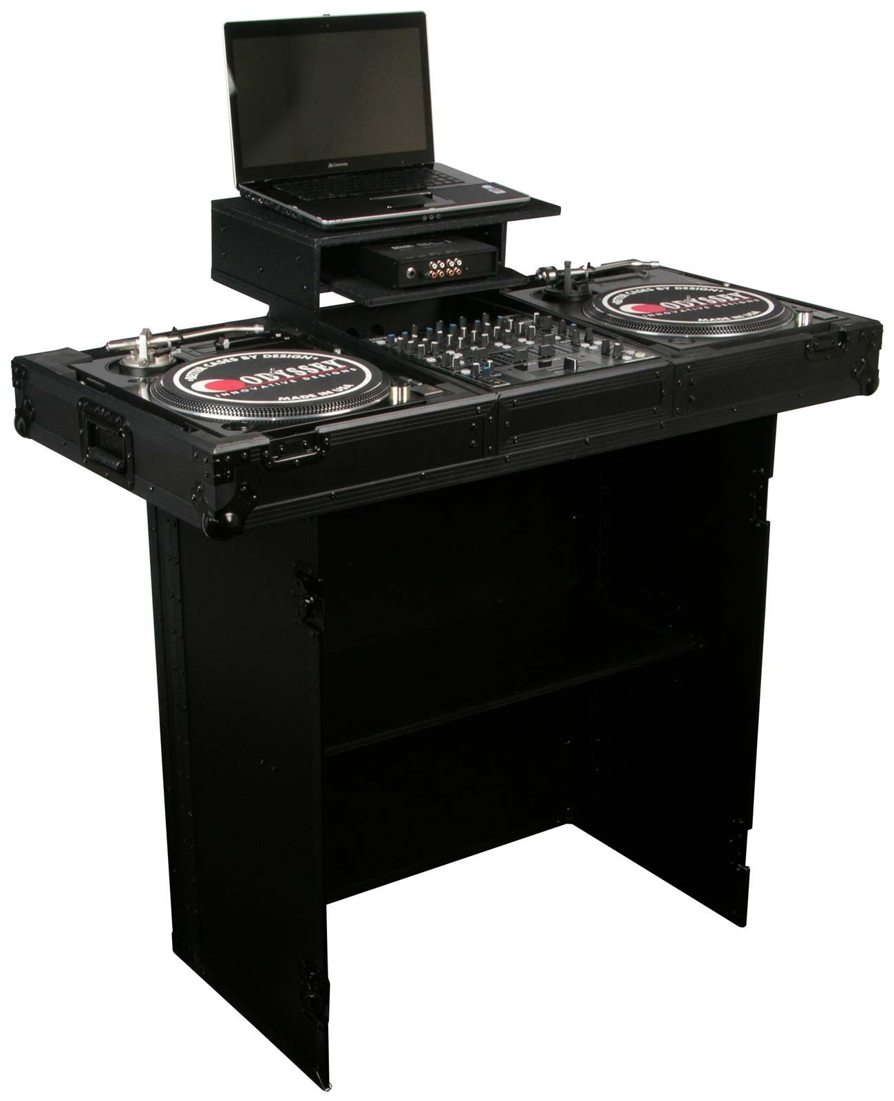 odyssey fzf3336bl black label heavy duty dj stand agiprodj. Black Bedroom Furniture Sets. Home Design Ideas