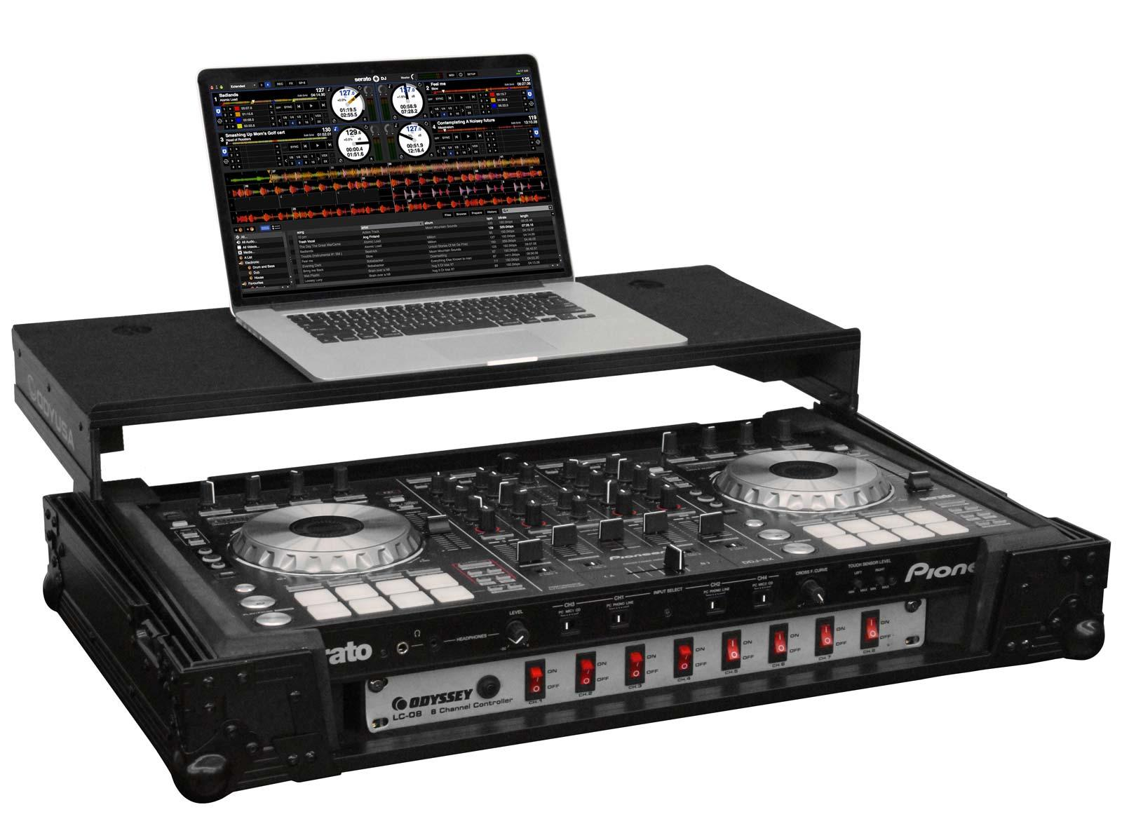 pioneer ddj sx2 serato dj controller fzgspiddjsx2bl case bundle agiprodj. Black Bedroom Furniture Sets. Home Design Ideas