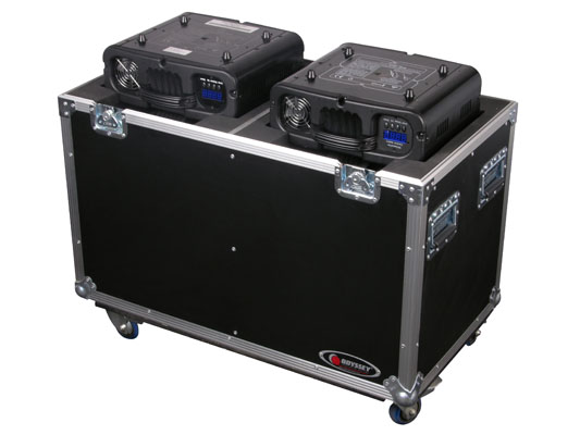 ODYSSEY FZMH250X2W Double Moving Head Flight Case with Wheels FZMH250X2W