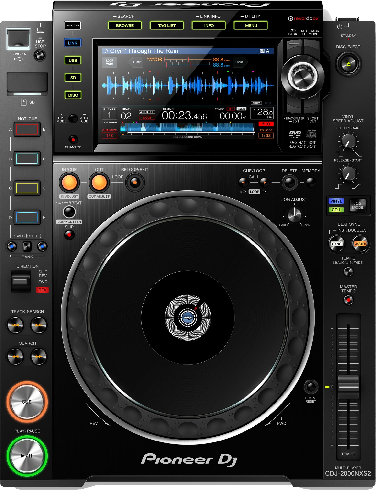 pioneer cdj 2000nxs2 professional club multi player supports usb sd cd dj software agiprodj. Black Bedroom Furniture Sets. Home Design Ideas