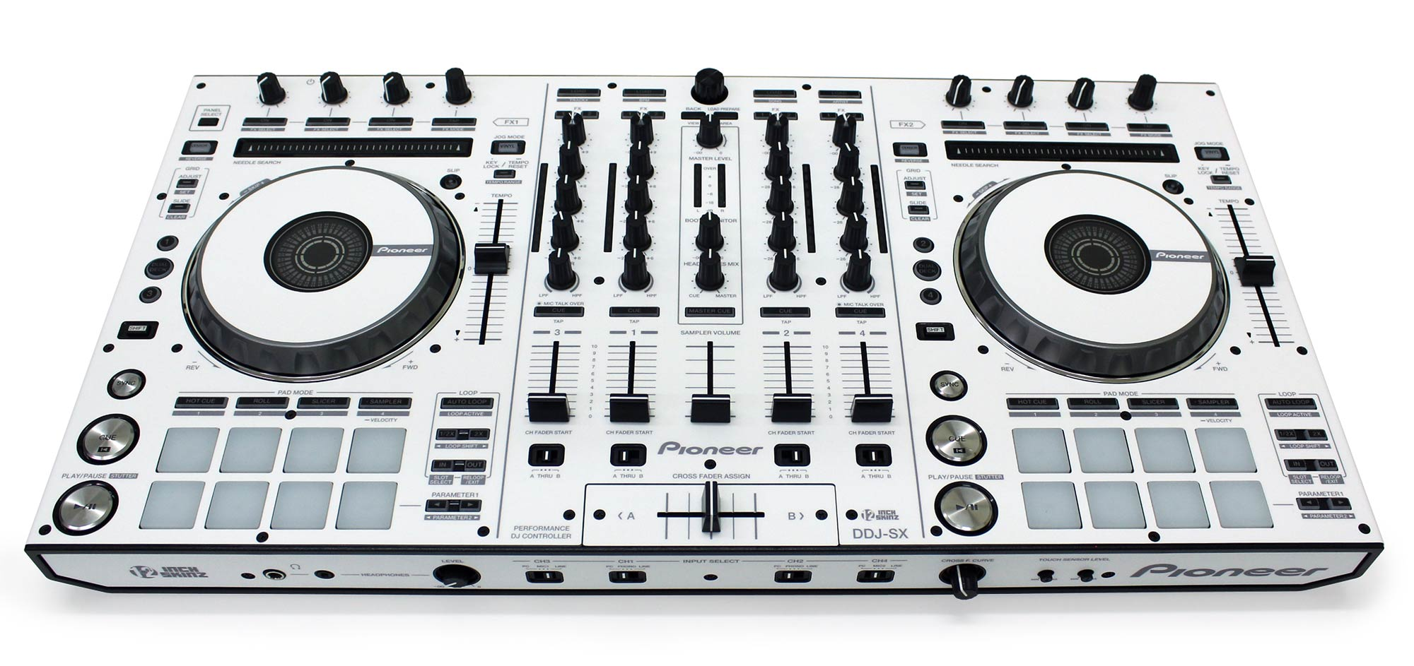 PIONEER DDJ-SX2 Custom White Skinned Serato DJ Audio Video