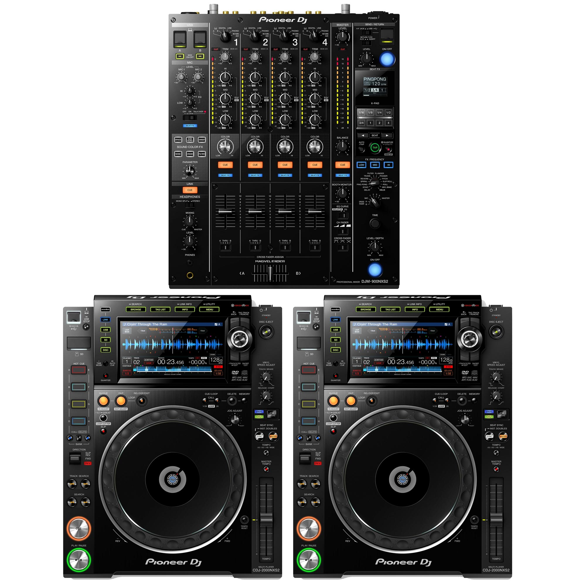 pioneer dj djm 900nxs2 2 cdj 2000nxs2 complete system agiprodj. Black Bedroom Furniture Sets. Home Design Ideas