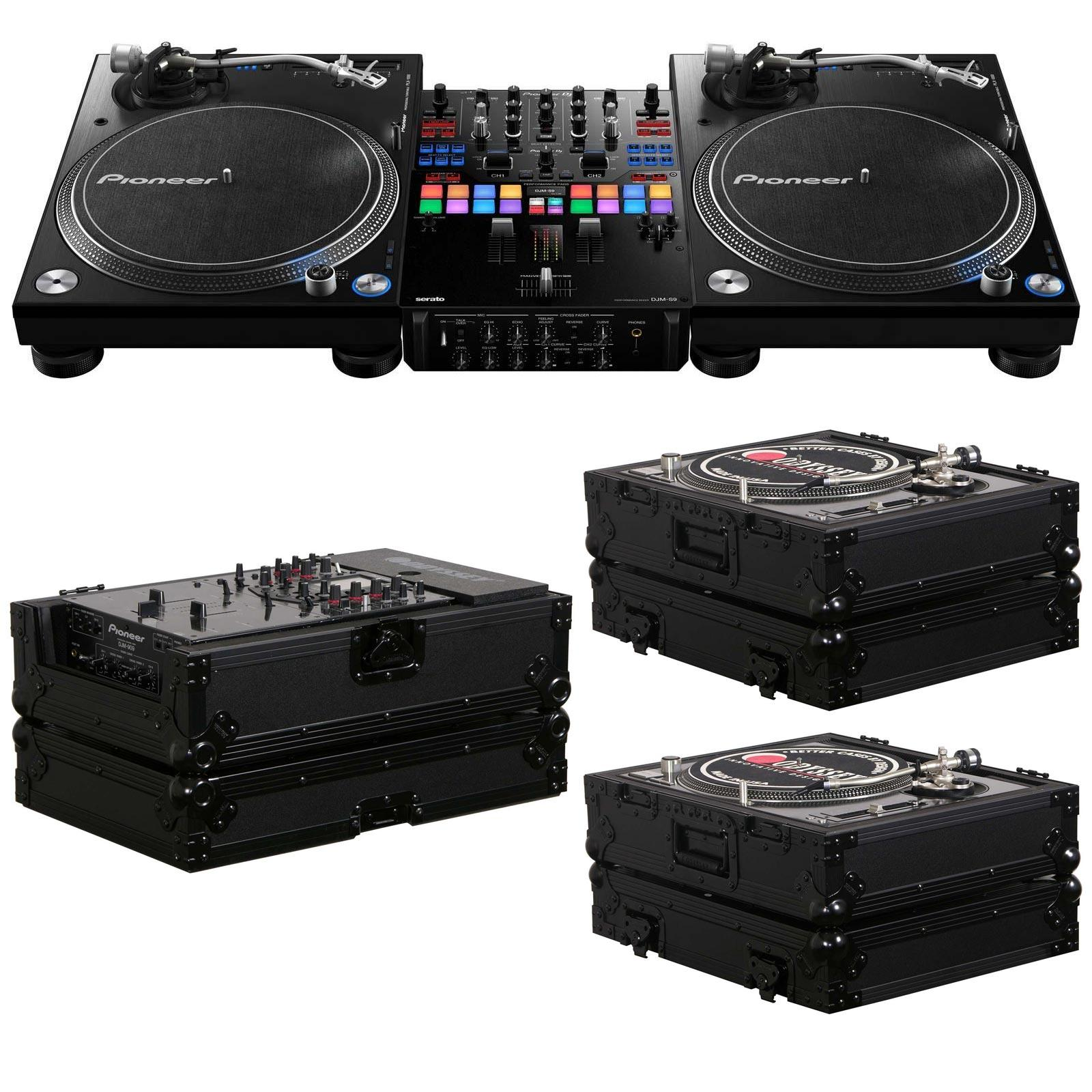 pioneer djm s9 serato mixer 2 plx 1000 turntable bundle with free flight cases agiprodj. Black Bedroom Furniture Sets. Home Design Ideas