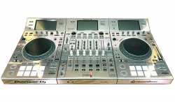 PIONEER DJ DDJ-RZX Custom Chrome Skinned Rekordbox Audio Video Controller DDJ-RZX CHROME CUSTOM SKINNED