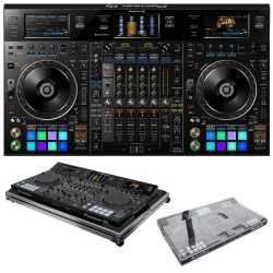 PIONEER DJ DDJ-RZX REKORDBOX CONTROLLER WITH FREE DECKSAVER + FLIGHT CASE BUNDLE DDJ-RZX BUNDLE WITH FLIGHT CASE
