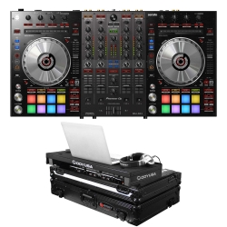 PIONEER DJ DDJ-SX3 + ODYSSEY FFXGSPIDDJSXBL LED Light Up Black Case Bundle DDJ-SX3 + FFXGSPIDDJSXBL Bundle
