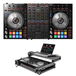 PIONEER DJ DDJ-SX3 Bundle with Controller + Odyssey 1U Chrome/Black Glide Case DDJ-SX3 BUNDLE - CHROME/BLACK
