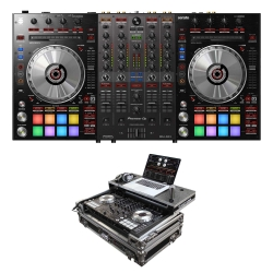 PIONEER DJ DDJ-SX3 Bundle with Controller + Odyssey Chrome/Black Glide Case DDJ-SX3 BUNDLE - CHROME/BLACK