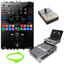 PIONEER DJ DJM-S9 2 Channel Serato DJ Mixer + Flight Case + Decksaver Cover + USB Cable Bundle DJM-S9 Complete Bundle