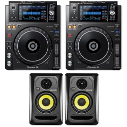 PIONEER DJ XDJ-1000MK2 PAIR Bundle with 2 FREE KRK Rockit RP4G3 Studio Monitors XDJ-1000MK2 DUO FREE ROKIT RP4 MONITORS