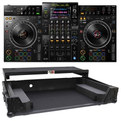 PIONEER DJ XDJ-XZ Controller Bundle Black Road Case with Laptop Shelf