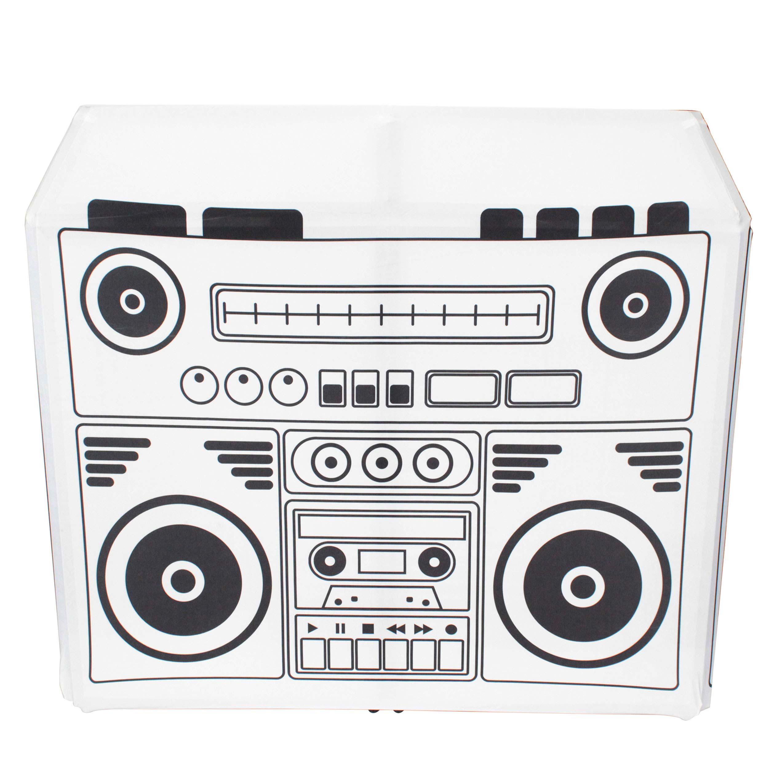 ProX XF-MESA MK2 DJ Booth with Black /& White Scrims