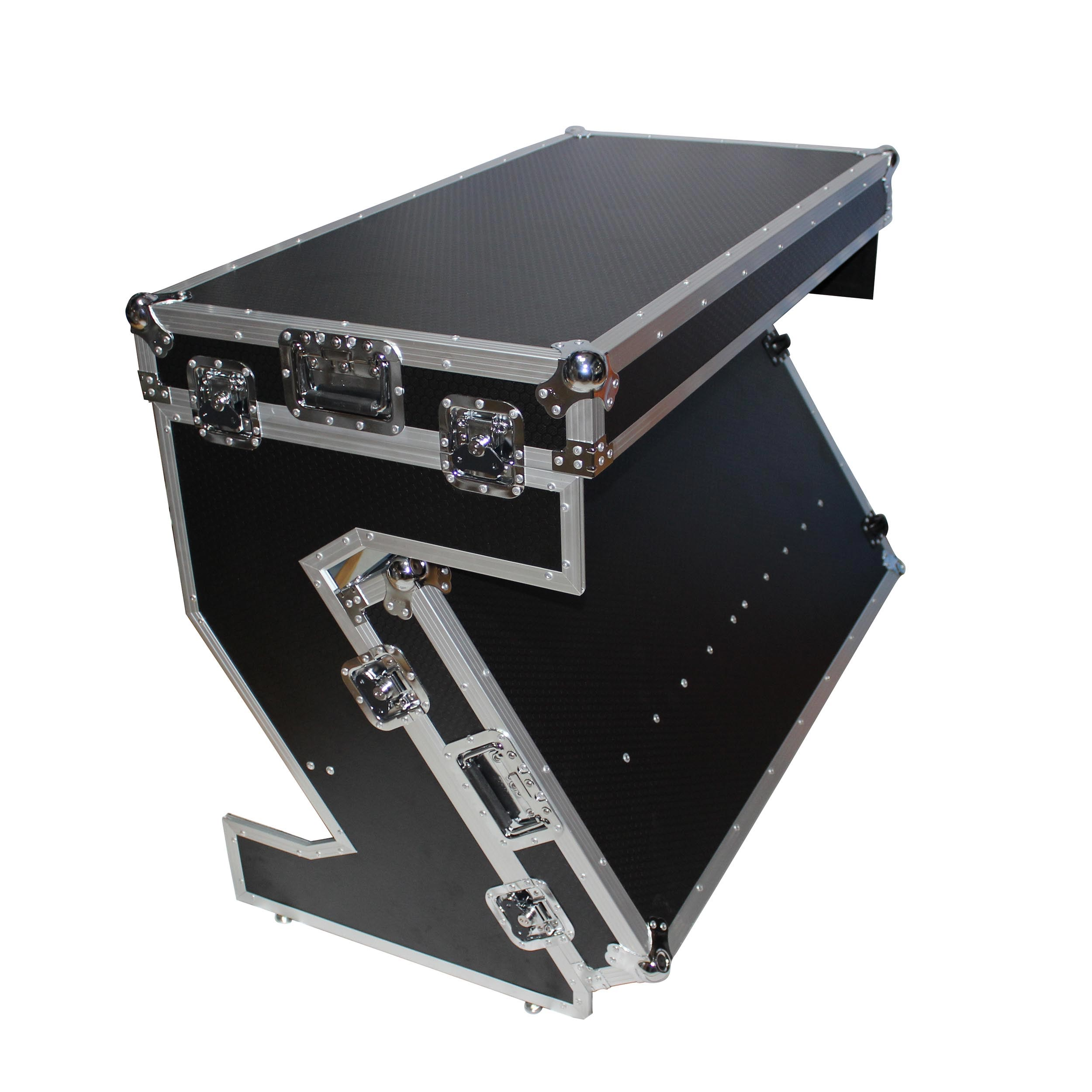 Prox Xs Ztable Portable Z Style Dj Table Flight Case With