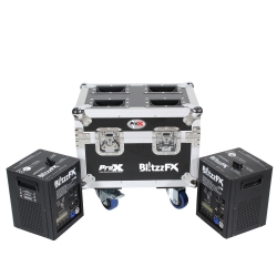 PROX X-BLITZZFXX2 - Set of Two BLITZZ FX Cold Spark Machines with Flight Case X-BLITZZFXX2