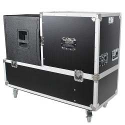 PRO-X X-RCF-EVOX12X2W ATA Style Flight/Road Case For RCF EVOX12 Speaker Array System - Fits Two Speakers and Subwoofers X-RCF-EVOX12X2W