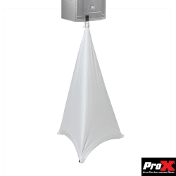 PROX X-SP2SC-W Two-Sided Speaker and Lighting Stand Cover Scrim - White