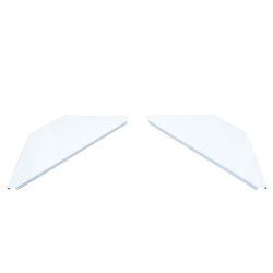 PROX XF-CSW X2 White Aluminum Corner Shelves for Facade System - PAIR