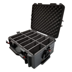 PROX XM-MAXI12 VaultX Watertight Case for 12 ApeLabs MAXI Lights Extendable Handle and Wheels XM-MAXI12