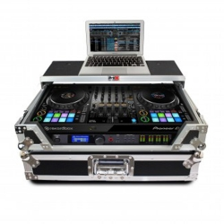 PROX XS-DDJ1000WLT Pioneer DDJ-1000 Digital Controller Flight Case with Laptop Shelf and Wheels XS-DDJ1000WLT