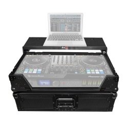 PROX XS-DDJ1000WLTBL Pioneer DDJ-1000 Digital Controller Flight Case with Laptop Shelf & Wheels Black on Black XS-DDJ1000WLTBL