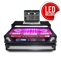 PROX XS-DDJSXWLTGB LED Flight Case with LED Strip For Pioneer DDJ-SX, DDJ-SX2, and DDJ-SX3