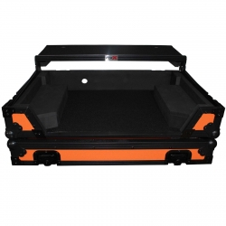 PROX XS-DDJSXWLTOB Orange/Black Flight Case with Laptop Shelf and Wheels for Pioneer DDJ-SX, DDJ-SX2 and DDJ-RX