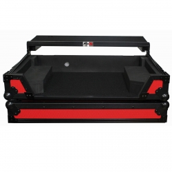 PROX XS-DDJSXWLTRB Red/Black Flight Case with Laptop Shelf and Wheels for Pioneer DDJ-SX, DDJ-SX2, and DDJ-RX