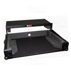 PROX XS-DJ707 LTBL Flight Case For Roland DJ-707M Digital Controller with Laptop Shelf Black on Black XS-DJ707 LTBL