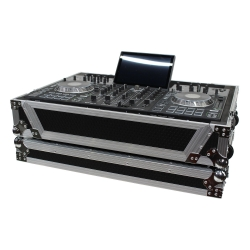 PROX XS-PRIME4 W Flight-Road Case with 1U and Wheels for Denon Prime 4