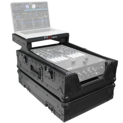 PROX XS-RANE72LTBL Road Case with Laptop Shelf for Rane Seventy-Two / Seventy Black on Black