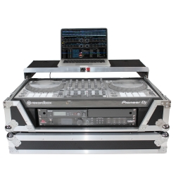 PROX XS-SX1K2UWLT 2U Laptop Shelf Flight Case for Pioneer DDJ-SX3, DDJ-1000, and Denon MC7000