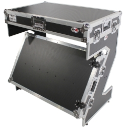 PROX XS-ZTABLE JR DJ Z-Table Workstation Portable Compact Flight Case Table XS-ZTABLE JR