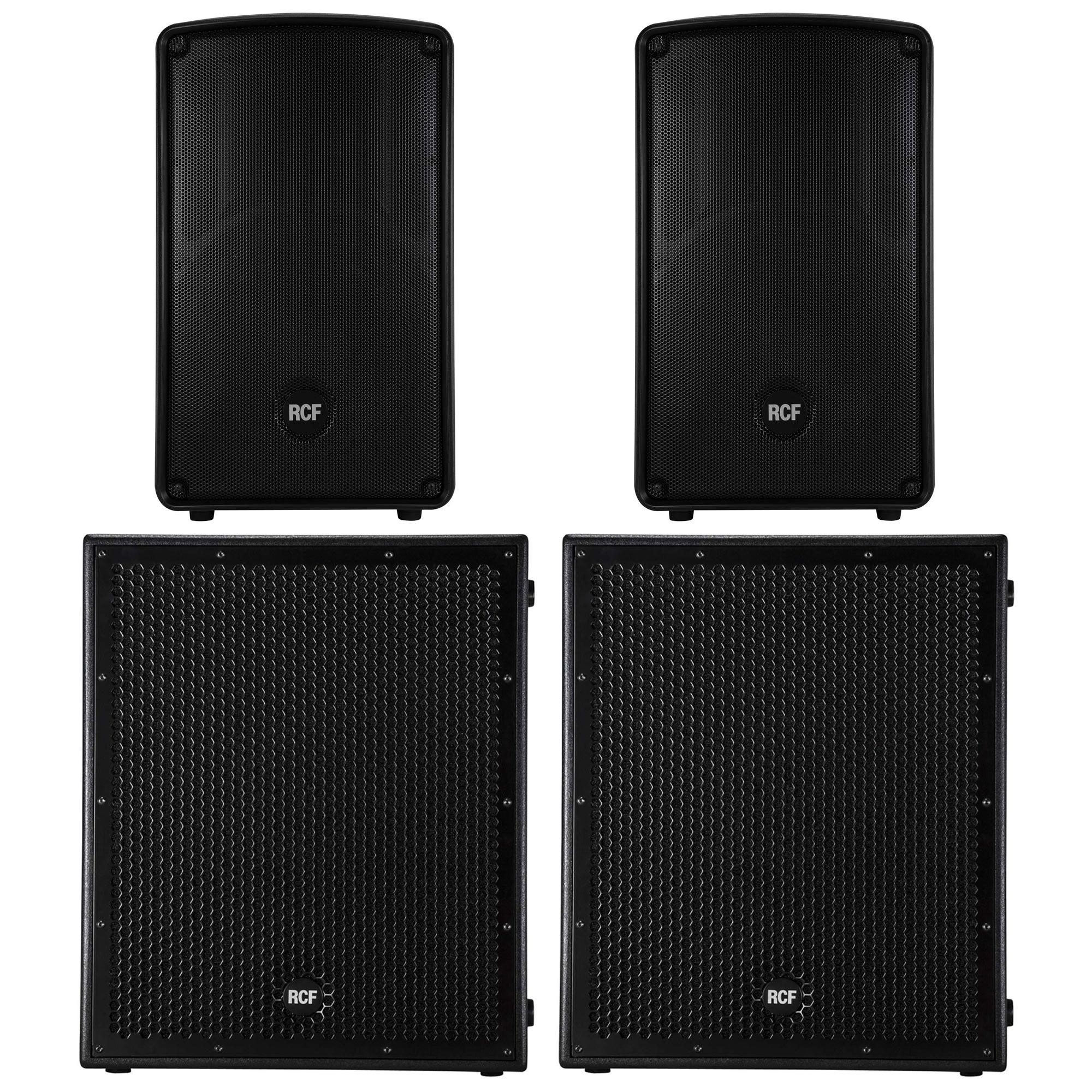Wedding DJ Tips Speaker Bundle 1 RCF HD32-A MK4 SUB8004AS