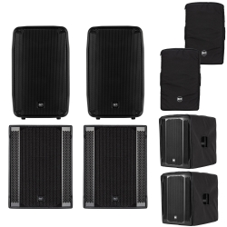 RCF HDM-45A  + 708-AS MK2 Bundle with Speakers and Subs + Covers