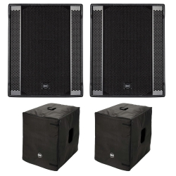 "RCF 2 SUB 708AS-II 18"" 1400 Watt Subwoofer Free Cover Bundle 2 SUB 708AS-II Free Cover Bundle"
