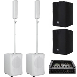 RCF EVOX J8-W / JMIX8-W Bundle + White Covers