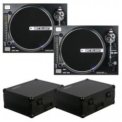 (2) RELOOP RP-8000 Straight Turntables Bundle with 2 FREE Black Flight Cases 2 RELOOP RP-8000 STRAIGHT BUNDLE + FREE BLACK FLIGHT CASES