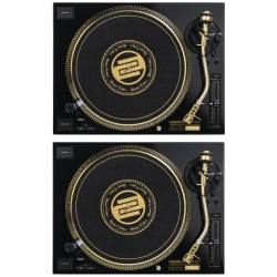 (2) RELOOP RP-7000 MK2 GLD Numbered Limited Edition of 1500 Gold Version High-end DJ Turntable Bundle RP-7000MK2 GLD PAIR