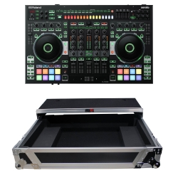 ROLAND DJ-808 Serato DJ Controller Bundle with XS-DJ808WLT Flight Case DJ-808 Bundle with Flight Case